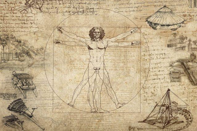 L'uomo vitruviano è un disegno a penna e inchiostro su carta di Leonardo da Vinci